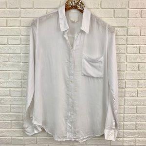 Treasure & Bond rayon button front tunic shirt